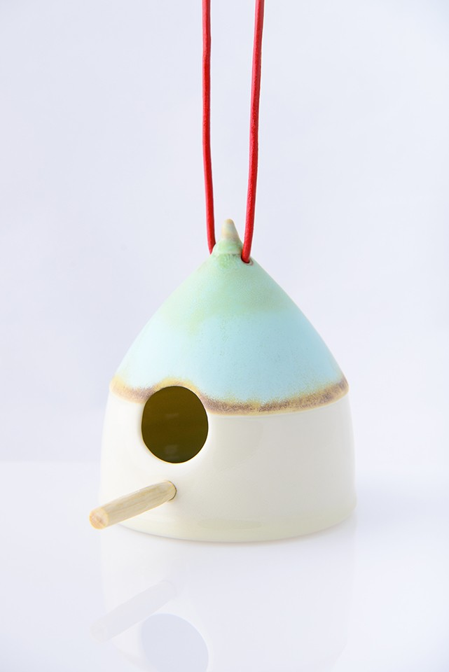 Irish Ceramic Birdfeeder