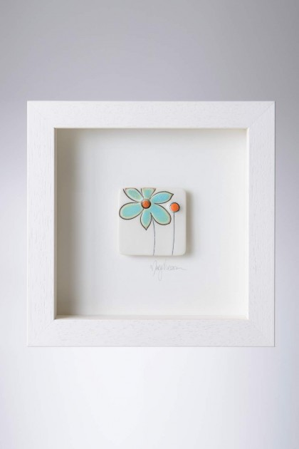 Framed Ceramic Pieces - Flowers