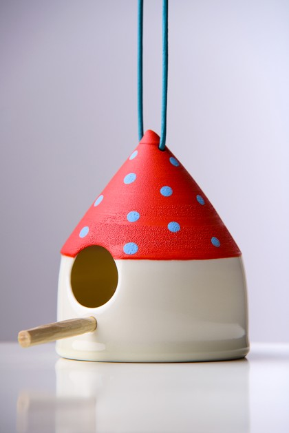 Bird feeder Red / Blue Dots